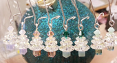 Christmas Tree Earrings Kit with SWAROVSKI® ELEMENTS Light Green